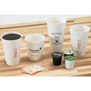 12 Oz. White Insulated Paper Cups (Ink Imprinted)