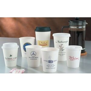 10 Oz. White Hot Paper Cup (Ink Imprinted)