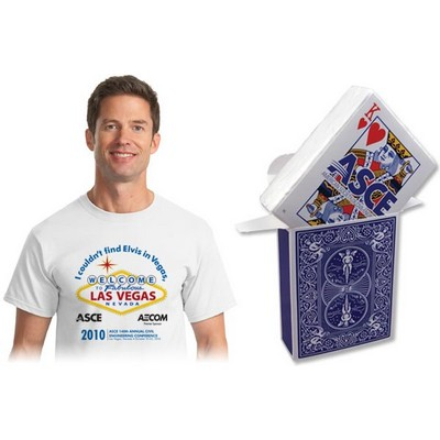 Compressed 3d Card Box 100% Cotton T-shirt
