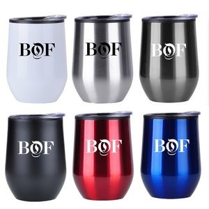 12 Oz Stainless Steel Wine Mug