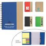 Custom Eco-Recycled Journal w/ Sticky Notes & Flags