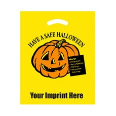 Halloween Stock Design Yellow Die Cut Bag � Have a Safe Halloween (12