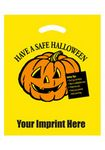 Custom Yellow Die Cut Plastic Have a Safe Halloween Bag