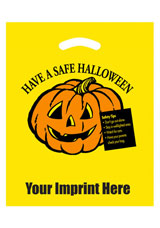 Halloween Stock Design Yellow Die Cut Bag • Have a Safe Halloween (12x15) - Flexo Ink