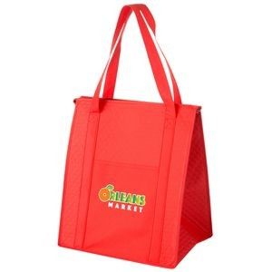 "Insulated Non-Woven Grocery Tote Bag w/ Insert and Full Color (13""x10""x15"") - Color Evolution"