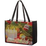 Custom Full Coverage PET Non-Woven Tote Bag w/ Full Color (16