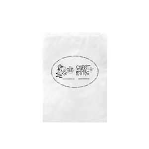 "White Kraft Paper Merchandise Bag (8 1/2""x11"") - Flexo Ink"