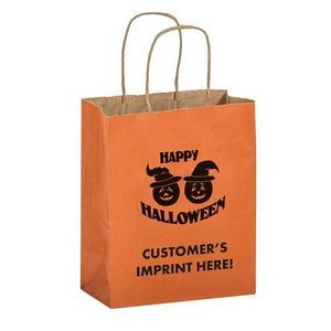 Halloween Stock Design Matte Orange Shopper � Pumpkins - Customized (8