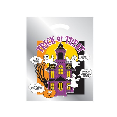 Halloween Stock Design Silver Reflective Die Cut Bag • Haunted House