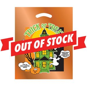 *SOLD OUT* Haunted House & Ghosts Halloween Stock Design Die Cut Bag