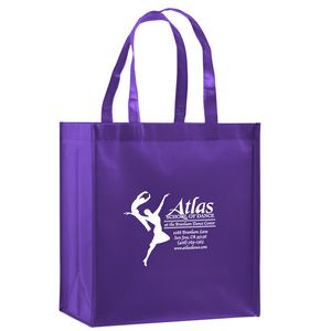 Gloss Laminated Designer Grocery Tote Bag w/Insert (12x8x13) - Screen Print