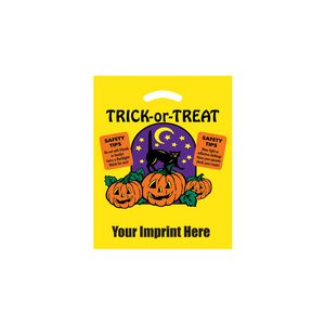 Halloween Stock Design Yellow Die Cut Bag • Trick-or-Treat (12x15) - Flexo Ink