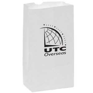 White Kraft Paper SOS Grocery Bag (Size 12 Lb.) - Flexo Ink