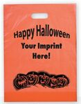Custom Frosted Orange Plastic Happy Halloween Bag