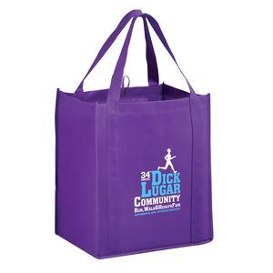 Heavy Duty Non-Woven Grocery Tote Bag w/Insert (13x10x15) - Screen Print