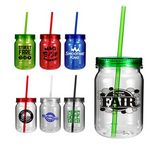 Custom 24 Oz. Plastic Mason Jar