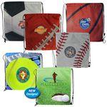 Custom Sports Style Drawstring Backpack (Full Color Digital)