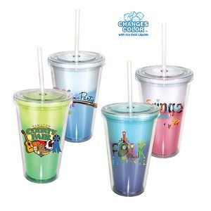 16 Oz. Mood Victory Acrylic Tumbler w/Straw Lid (Full Color Digital)
