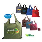 Custom RPET Fold Away Carryall Tote Bag (Full Color Digital)