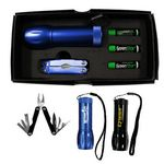 Custom Mega Might LED Flashlight w/ Multi-Function Tool Set
