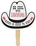Custom Cowboy Hat Stock Shape Hand Fan
