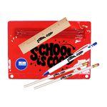 Custom Premium Translucent Pouch School Kit (2 Pencils, 6