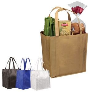 Non Woven Tundra Tote Bag w/ Plastic Bottom (Blank)