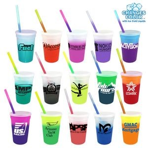 17 oz. Mood Stadium Cup/Straw/Lid Set