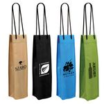Custom Non Woven Single Wine Bottle Bag (Spot Color)