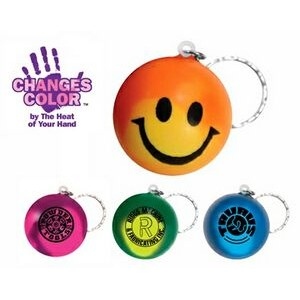 Mood Smiley Face Stress Keychain (Spot Color)