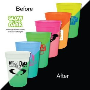12 Oz. Nite Glow Stadium Cup (Spot Color)