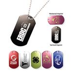 Custom Metal Dog Tag w/ 23 1/2