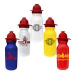 Custom 20 Oz. Value Cycle Bottle w/ Fireman Helmet Push 'n Pull Cap
