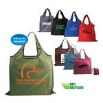 Custom RPET Fold Away Carryall Tote Bag (Spot Color)