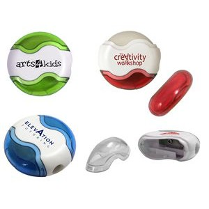 Round Pencil Sharpener Eraser Combo (Spot Color)