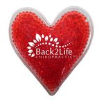 Custom Heart Gel Bead Hot/Cold Pack (Spot Color)