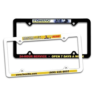 Thin Panel License Plate Frame w/ 4 Holes (Full Color Digital)