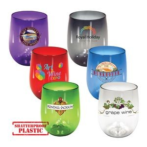 12 Oz. Stemless Wine Glass, Full Color Digital