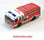 Custom Foldable Die-Cut Fire Truck (Full Color Digital)