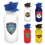Custom 20 Oz. Value Cycle Bottle w/ Police Hat Push 'n Pull Cap (Full Color Digital)