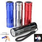 Custom 9 led Mini Aluminum Flashlight