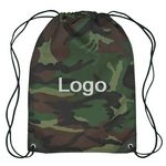 Custom ACU Pattern Camo Drawstring backpack