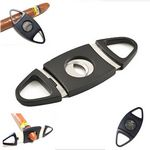 Custom Oval Shaped Cigar Cutter /Double Cut Blade