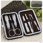 Custom PU Leather Case Manicure Set Nail clipper sets