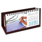Custom Hang 12 Custom Flip Calendar with Maroon Organizer Base