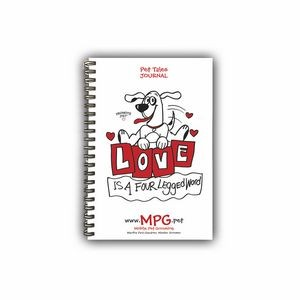 Promote.Pet™ Pet Tales™ Wire Bound Poly Journal, Small