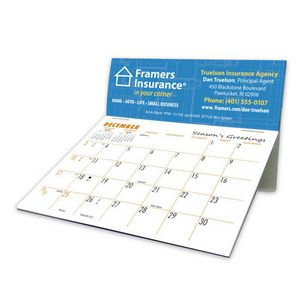 Mini Splash Full Color Lightweight Desk Calendar
