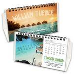 Custom Boogie Board Custom Flip Calendar with White Organizer Base