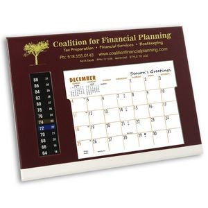 TE LCD Therm-O-Dex Refillable Desk Calendar, Maroon