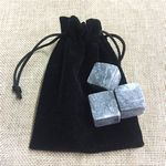Custom Whisky chilling rock with pouch 3pcs into a set